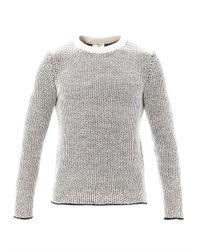 Balenciaga - Gray Waffle Weave Crew Neck Sweater for Men - Lyst