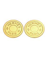 Hermès - Metallic HermãˆS Clip-On Earrings - Lyst