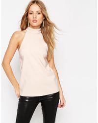 ASOS | Pink Cutaway Halterneck Top | Lyst