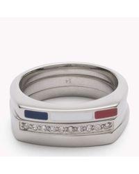 Tommy Hilfiger | Metallic Enamel Ring | Lyst