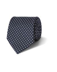 Emma Willis - Blue Printed Silk Tie for Men - Lyst