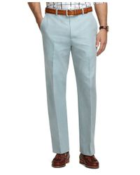 Brooks Brothers | Green Madison Fit Americana Plain-front Dress Trousers for Men | Lyst