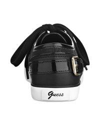 Guess - Black Macita Logo Sneakers - Lyst