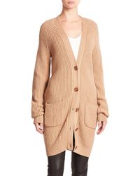 Equipment | Natural Kathy Wool & Cashmere Cardigan | Lyst