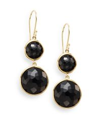Ippolita | Metallic Lollipop Onyx & 18k Yellow Gold Drop Earrings | Lyst