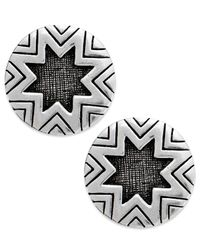 House of Harlow 1960 | Metallic Silver-tone Sunburst Button Post Earrings | Lyst