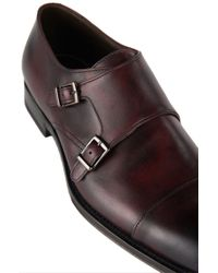 BOSS - Red 't-legom' | Italian Leather Double Monk Strap Dress Shoes for Men - Lyst