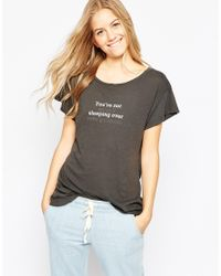 Wildfox | Gray Late Night Surprise T-shirt | Lyst