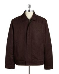 Weatherproof | Brown Faux Suede Jacket for Men | Lyst
