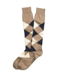 Brooks Brothers - Brown Argyle Over-the Calf Socks for Men - Lyst
