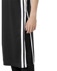 Y-3 - Black Long Cotton Jersey Tank Top for Men - Lyst