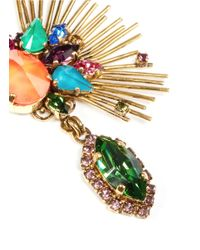 Erickson Beamon - Multicolor 'telepathic' Crystal Firework Edge Drop Earrings - Lyst