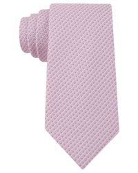 Kenneth Cole Reaction | Pink Dotted Slim Tie for Men | Lyst