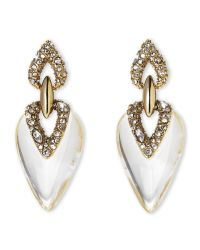 Alexis Bittar - Metallic Gold-Plated Crystal Earrings - Lyst