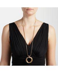 John Lewis - Metallic Paved Multi Hoop Long Necklace - Lyst