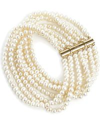 Annoushka | White Cascading 18ct Yellow-gold And Pearl Bracelet | Lyst