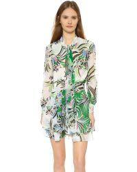 Just Cavalli | Multicolor Love Kimono Printed Dress - Multi | Lyst