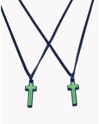 DSquared² | Blue Necklace for Men | Lyst