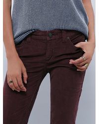 Free People - Brown Cord Super Flare - Lyst