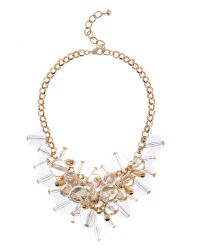 Ted Baker | Metallic Giant Cluster Necklace | Lyst
