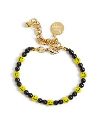 Venessa Arizaga - Yellow 'all Smiles On Me' Faux Pearl Charm Bracelet - Lyst