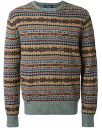 Polo Ralph Lauren - Gray - Intarsia Knit Sweater - Men - Wool/lambs Wool - Xxl for Men - Lyst