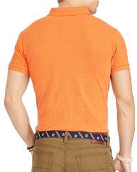Polo Ralph Lauren | Orange Mesh Polo Shirt for Men | Lyst