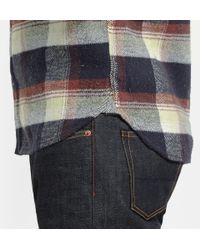 Neighborhood | Blue Checked Cotton-flannel Shirt for Men | Lyst