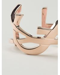 Saint Laurent | Pink 'monogramme' Cuff | Lyst