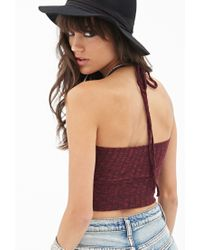 Forever 21 - Purple Heathered Sweater Halter Top You've Been Added To The Waitlist - Lyst