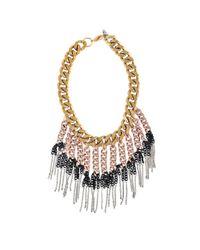 Ela Stone - Pink Maggie Plastron Necklace - Lyst