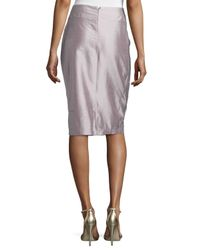 Risto - Metallic Cable-Stitched Insert Pencil Skirt - Lyst