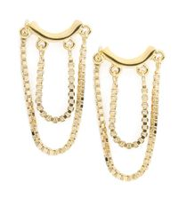 Trina Turk | Metallic Double Chain Drop Earrings | Lyst