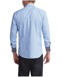 BOSS Orange | Blue Slim Fit Shirt 'eslime' In Cotton for Men | Lyst