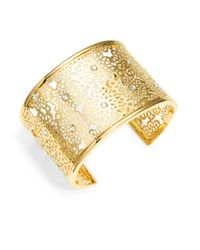 kate spade new york | Metallic Strike Gold Cuff Braclet | Lyst