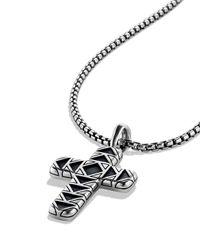 David Yurman - Metallic Frontier Cross Necklace On Chain - Lyst