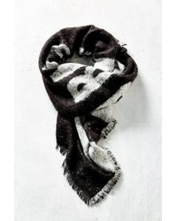 Urban Outfitters | Black No Bad Days Brushed Blanket Scarf | Lyst