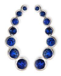 Rina Limor - Blue 18k White Gold & Sapphire Climber Earrings - Lyst