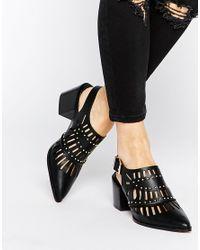 ASOS - Black Ocean Pointed Heels - Lyst