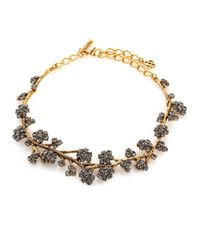 Oscar de la Renta | Metallic Crystal Branch Collar Necklace | Lyst