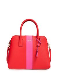 kate spade new york | Pink 'cameron Street - Stripe Margot' Satchel | Lyst