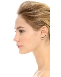 Joomi Lim | Black Concentric Glamour Stud & Curved Earpin Set - Gold/jet | Lyst