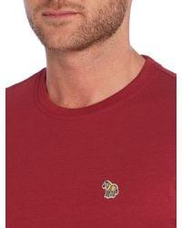 Paul Smith - Pink Zebra Regular Fit Logo T Shirt for Men - Lyst