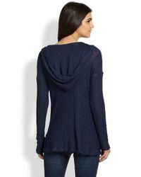 Splendid - Blue Las Palmas Hooded Sweater - Lyst