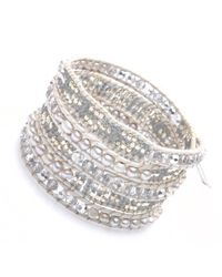 Nakamol - Metallic Marauder Wrap Bracelet-silver - Lyst