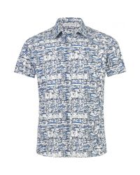 Orlebar Brown - Blue Pelham Short Sleeve Sportshirt for Men - Lyst