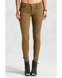 True Religion | Green Joan Smalls Super Skinny Zip Pocket Womens Jean | Lyst