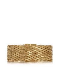 Givenchy | Metallic Woven Bracelet In Gold-tone Brass | Lyst