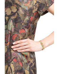 Carolina Bucci - Metallic 18k Gold Bracelet With Silk - Multicolor - Lyst