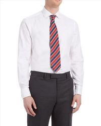Jaeger - White Herringbone Shirt for Men - Lyst